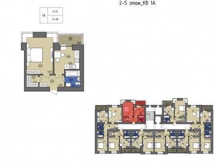 Продам простору одно кімнатну квартиру в новобудові ЖК - Жасмин на вулиці Лісові. Ирпень, Киевская область. фото 5