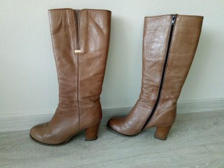 Продаються чоботи жіночі весна-осінь фірми BRASKA (замшеві, колір-шоколадний, ро. Киев, Киевская область. фото 6