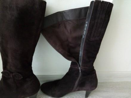 Продаються чоботи жіночі весна-осінь фірми BRASKA (замшеві, колір-шоколадний, ро. Киев, Киевская область. фото 3