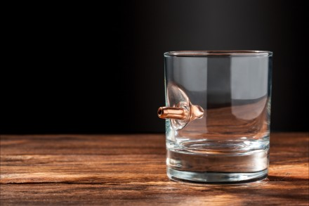 Стакан с настоящей пулей 7.62мм. Этот стакан станет отличным подарком для любого. Киев, Киевская область. фото 5