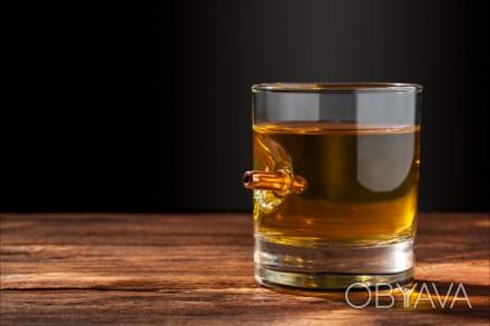 Стакан с настоящей пулей 7.62мм. Этот стакан станет отличным подарком для любого. Киев, Киевская область. фото 1