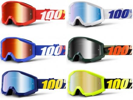 Кроссовые-эндуро очки (маска) Ride 100% STRATA для мото/вело/ATV. ОРИГИНАЛ НОВЫЕ. Киев. фото 1