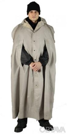 Рабочий плащ-накидка (без рукавов), с капюшоном. Швы проклеены. Материалкаланд. Житомир, Житомирская область. фото 1