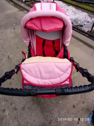 Ищите коляску-трансформер для принцессы? У нас есть такая!Розовая коляска-транфо. Днепр, Днепропетровская область. фото 4