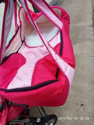 Ищите коляску-трансформер для принцессы? У нас есть такая!Розовая коляска-транфо. Днепр, Днепропетровская область. фото 5