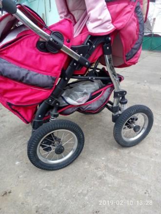 Ищите коляску-трансформер для принцессы? У нас есть такая!Розовая коляска-транфо. Днепр, Днепропетровская область. фото 2