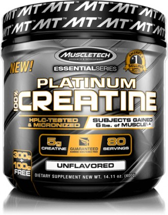 Креатин моногидрат Platinum Creatine от MuscleTech (80 порций) USA. Киев. фото 1