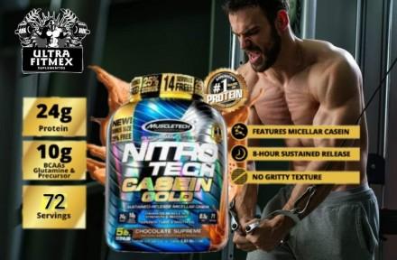 Протеин (казеин) Nitro-Tech Casein Gold от MuscleTech (72 порции) USA. Киев. фото 1