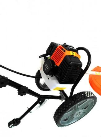Ручная косилка на колесах GrunWelt GW-140HP Характеристика: Производитель: GrunW. Киев, Киевская область. фото 3