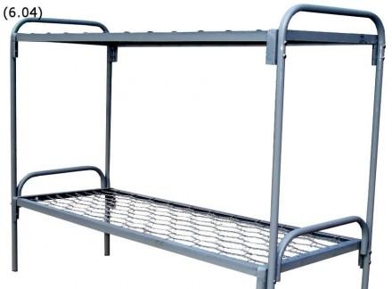 Двухярусная кровать 190х70 спинка металлическая. Житомир. фото 1