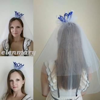 Фата для девичника с короной. Киев. фото 1