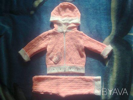 Продам костюмчик на девочку,в отличном состоянии,замеры:длина кофты - 32см,длина. Чернигов, Черниговская область. фото 1