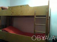 СРОЧНО продам 2-х ярусную кровать,в хорошем состоянии,без матраса. Крепкая и на. Кривой Рог, Днепропетровская область. фото 2