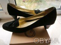 Новые замшевые туфли черные. Киев. фото 1