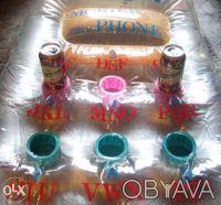 Матрас пляжный, б/у в отличном состоянии. Материал: винил, верх – прозрачный, ни. Киев, Киевская область. фото 4
