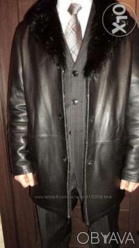 Кожанное мужское пальто. Киев. фото 1