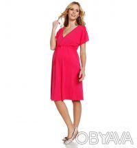 Платье для беременных малиновое с коротким рукавом, Yessica (C&A). Одесса. фото 1