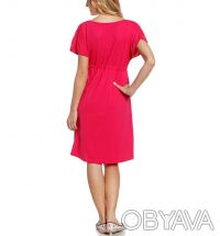 ᐈ Платье для беременных малиновое с коротким рукавом, Yessica (C A ... e0a09f31f05