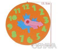 Часики-пазлы. Отлично подойдет для изучения цифр и времени. Это увлекательная ра. Киев, Киевская область. фото 5