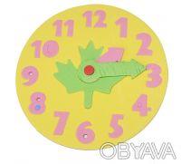 Часики-пазлы. Отлично подойдет для изучения цифр и времени. Это увлекательная ра. Киев, Киевская область. фото 6