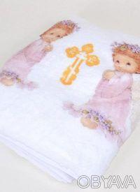 Теплый мягенький новый детский плед из белого вельсофта, очень приятный наощупь.. Одеса, Одеська область. фото 8