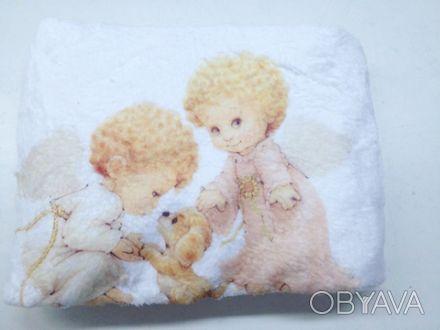 Теплый мягенький новый детский плед из белого вельсофта, очень приятный наощупь.. Одесса, Одесская область. фото 1
