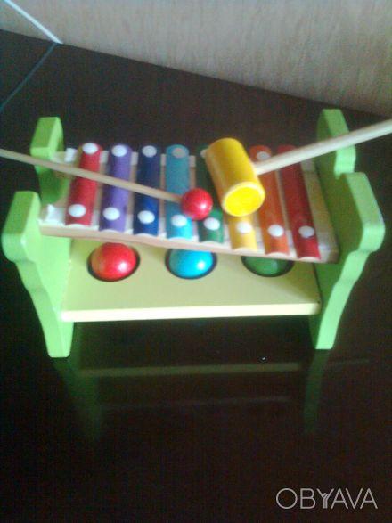 Прикольная игрушка с молоточками для юных музыкантов, 3 шарика для забивания в л. Одесса, Одесская область. фото 1