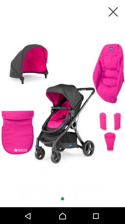 Коляска Chicco Urban Plus Crossover Stroller з універсальним текстилем. Изюм. фото 1