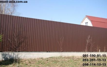 Профнастил Коричневый РАЛ 8017 с глянцевым полимерным покрытием шоколадного отте. Киев, Киевская область. фото 2