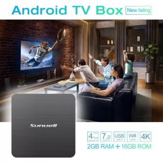 Смарт Tv Box Sunvell H3 2/16GB Android 7.1.2. Харьков. фото 1
