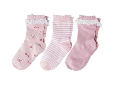 Комплект носочків для дівчинки рожеві з рюшами 3 шт.. Нововолынск. фото 1