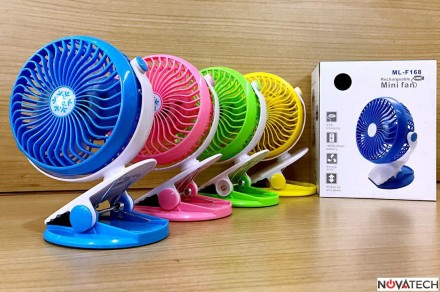 Новинка Мини-вентилятор USB с прищепкой ML-F168. Харьков. фото 1