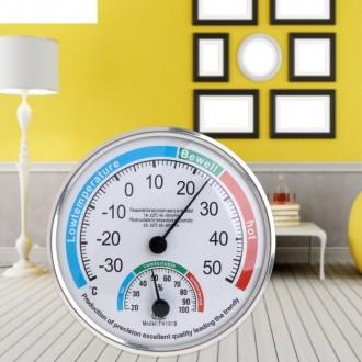 Механический термометр-гигрометр (влагометр) аналогового типа для измерения темп. Энергодар, Запорожская область. фото 2