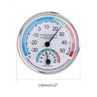 Механический термометр-гигрометр (влагометр) аналогового типа для измерения темп. Энергодар, Запорожская область. фото 3