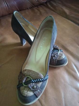 Туфли натуральные замшевые. Бровары. фото 1