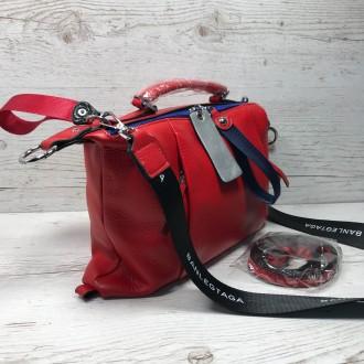 Женская кожаная сумка трансформер (  можно растегнуть по бокам и размер сумки ст. Одесса, Одесская область. фото 10