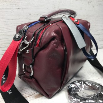 Женская кожаная сумка трансформер (  можно растегнуть по бокам и размер сумки ст. Одесса, Одесская область. фото 4