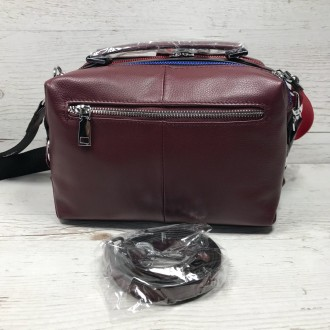 Женская кожаная сумка трансформер (  можно растегнуть по бокам и размер сумки ст. Одесса, Одесская область. фото 6