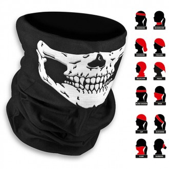 Баф подшлемник с черепом череп бафф для шлема под шлем ls2 agv спорт мото. Ружин. фото 1
