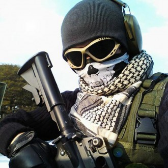 Эластичная маска бафф без швов. Универсальный размер. Защищает шею от ветра. . Ружин, Житомирская область. фото 3