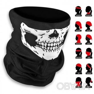 Баф подшлемник с черепом череп бафф для шлема под шлем ls2 agv спорт мото