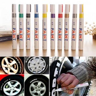 Маркер PAINT для резины покрышек колёс маркеры карандаш авто мото. Ружин. фото 1