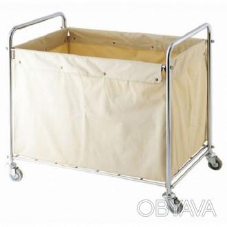 Металлическая тележка для грязного белья с мешком  размеры: 910*560*920 мм Про. Киев, Киевская область. фото 1