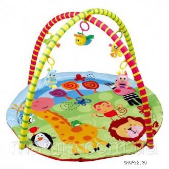 Детский коврик с мягкими и пластиковыми игрушками на дугах 024. Борисполь. фото 1
