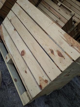 Контейнери дерев'яні для яблук і овочів. Радомышль. фото 1