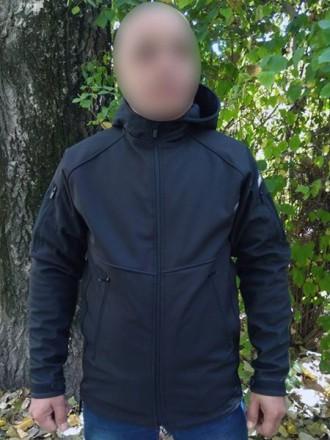 Куртка SoftShell. Сребное. фото 1