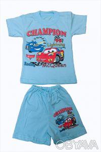 Летний комплект для мальчиков - футболка и шорты.     Материал - кулир, 100% х. Одесса, Одесская область. фото 3