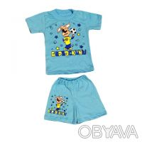 Летний комплект для мальчиков - футболка и шорты.     Материал - кулир, 100% х. Одесса, Одесская область. фото 5