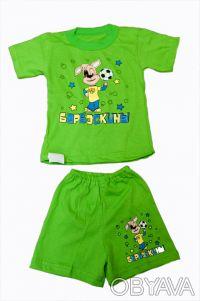 Летний комплект для мальчиков - футболка и шорты.     Материал - кулир, 100% х. Одесса, Одесская область. фото 4