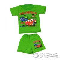 Летний комплект для мальчиков - футболка и шорты.     Материал - кулир, 100% х. Одесса, Одесская область. фото 2